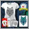 Vyfarbovacie antistresové tričko s patentom Vlk