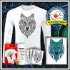Vyfarbovacie antistresové pánske 180 g. dlhorukávové tričko Vlk