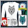 Vyfarbovacie antistresové pánske 160g. dlhorukávové tričko Vlk