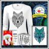 Vyfarbovacie antistresové dámske dlhorukávové svietiace tričko Vlk
