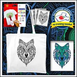 Vyfarbovacia antistresová taška Vlk
