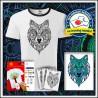 Vyfarbovacie antistresové detské dvojfarebné tričko Vlk