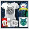 Vyfarbovacie antistresové tričko s patentom Mačka