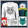 Vyfarbovacie antistresové dámske dlhorukávové tričko Mačka