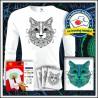 Vyfarbovacie antistresové detské 160g. dlhorukávové tričko Mačka