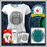 Vyfarbovacie antistresové tričko s patentom Sova