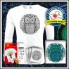 Vyfarbovacie antistresové detské 160g. dlhorukávové tričko Sova