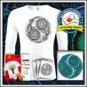 Vyfarbovacie antistresové pánske 160g. dlhorukávové tričko Jin a Jang
