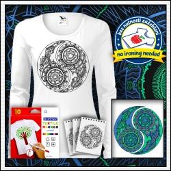 Vyfarbovacie antistresové dámske dlhorukávové tričko Jin a Jang