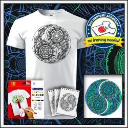 Vyfarbovacie antistresové detské tričko Jin a Jang