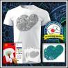 Vyfarbovacie antistresové unisex tričko Srdce