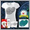 Vyfarbovacie antistresové dámske tričko Srdce
