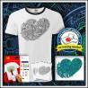 Vyfarbovacie antistresové unisex dvojfarebné tričko Srdce