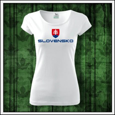 Dámske tričká Slovenský znak, svk tricko