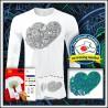 Vyfarbovacie antistresové pánske 180 g. dlhorukávové tričko Srdce