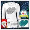 Vyfarbovacie antistresové dámske dlhorukávové tričko Srdce