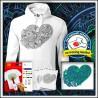 Vyfarbovacia antistresová pánska mikina Srdce