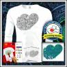 Vyfarbovacie antistresové detské 160g. dlhorukávové tričko Srdce