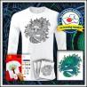 Vyfarbovacie antistresové pánske 180 g. dlhorukávové tričko Drak