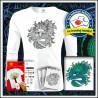Vyfarbovacie antistresové pánske 160g. dlhorukávové tričko Drak