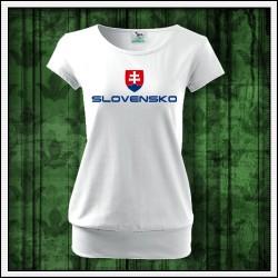 Dámske tričká s patentom Slovensko veľký znak