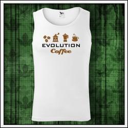 Vtipné pánske tielka Evolution Coffee
