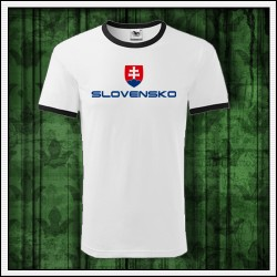Unisex dvojfarebné tričká Slovensko veľký znak