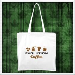 Vtipná taška Evolution Coffee pre kávičkára