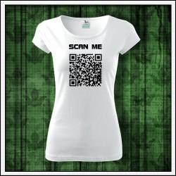 Vtipné dámske tričko QR kód, darčeky s QR kódom