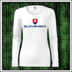 Dámske dlhorukávové tričká Slovensko veľký znak