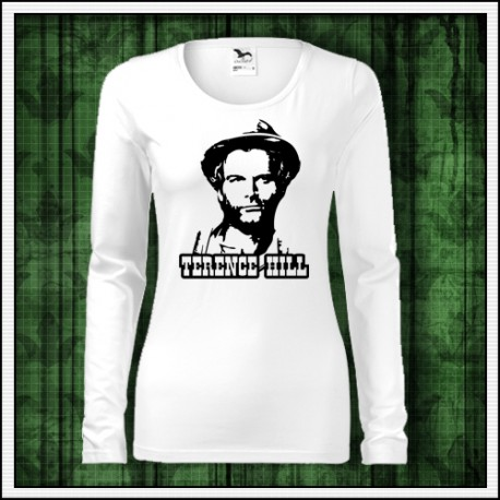 Dámske dlhorukávové retro tričko Terence Hill retro darček