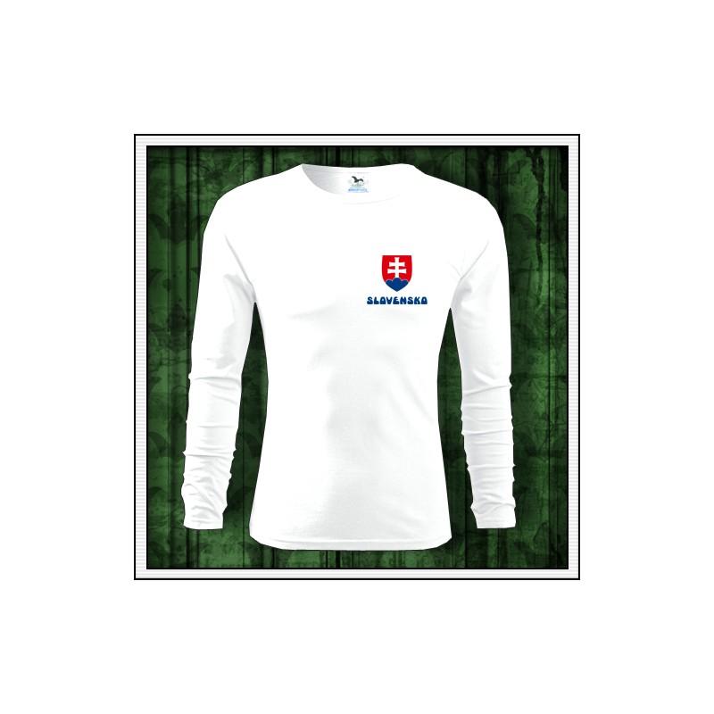 f324ac054c776 Pánske dlhorukávové tričko SVK, Slovensko, Slovakia so slovenským znakom ...
