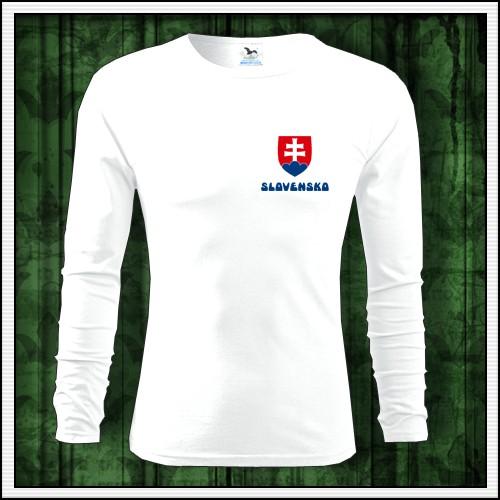 f1220ba2d841 Pánske dlhorukávové tričko Slovensko so slovenským znakom