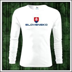 Pánske 160g. dlhorukávové tričká Slovensko veľký znak