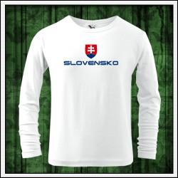 Detské 160g. dlhorukávové tričká Slovensko veľký znak