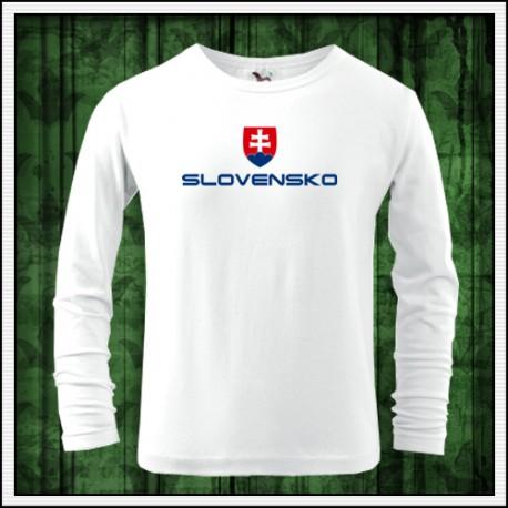 Detské dlhorukávové tricka Slovensko so slovenskym znakom