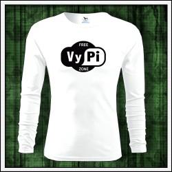 Vtipné pánske 160g. dlhorukávové tričká Free VyPi Zone