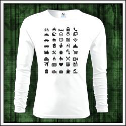 Vtipné pánske 160g. dlhorukávové tričká Icon Speak