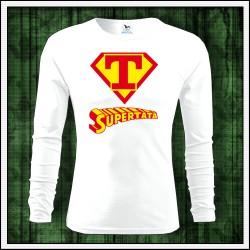Vtipné pánske 160g. dlhorukávové tričká Supertata