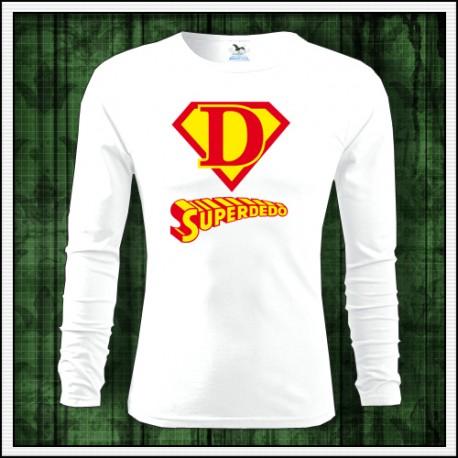 Vtipné pánske tričko darček pre deda Superdedo