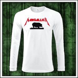 Vtipné pánske 180 g. dlhorukávové tričká Mangallica