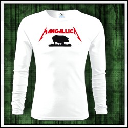 Vtipné pánske 160g. dlhorukávové tričká Mangallica