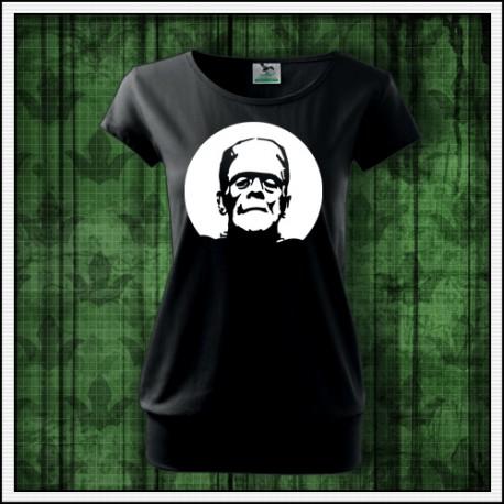 Dámske fosforové tričká s patentom Frankenstein