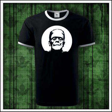 Unisex svietiace dvojfarebné tričko Frankenstein