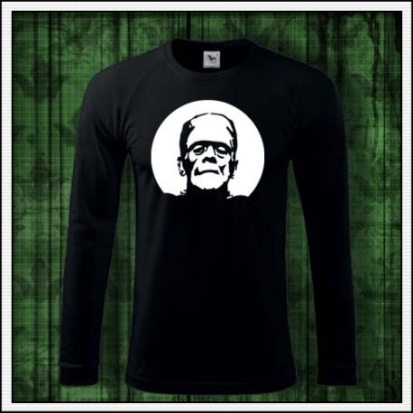 Pánske 180 g. dlhorukávové svietiace tričko Frankenstein