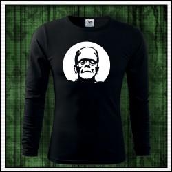 Pánske 160g. dlhorukávové fosforové tričko Frankenstien
