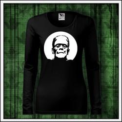 Dámske dlhorukávové svietiace tričko Frankenstein