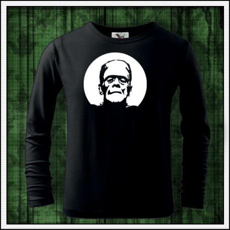 Detské 160g. dlhorukávové svietiace tričko Frankenstein