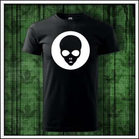Unisex svietiace tričko s Alienom