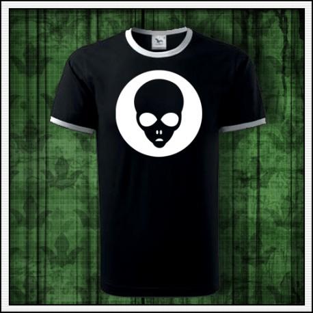 Unisex dvojfarebné svietiace tričko Alien